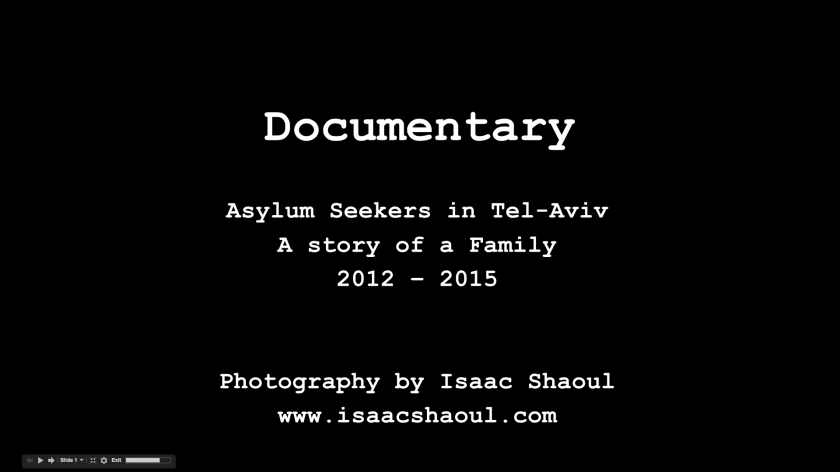 Asylum Seekers in TLV – A Story of a Family – Lecture